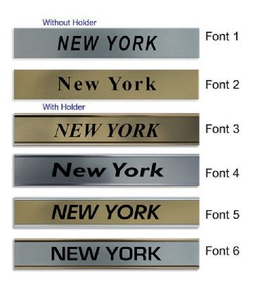 New York Clock Name Plate |World Time Zone City Wall clocks Sign custom Plaque